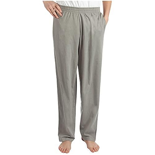 Pembrook Mens Jersey Knit Pants-S-Gray