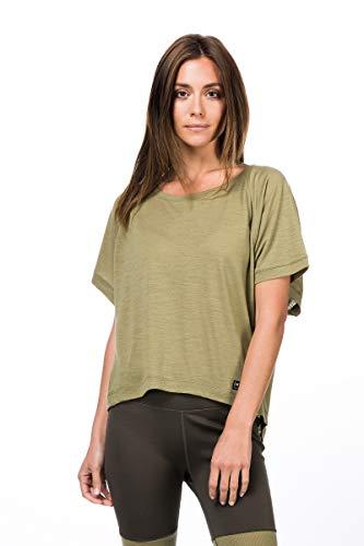 super.natural Peyto T-Shirt en Laine mérinos pour Femme S Bambou
