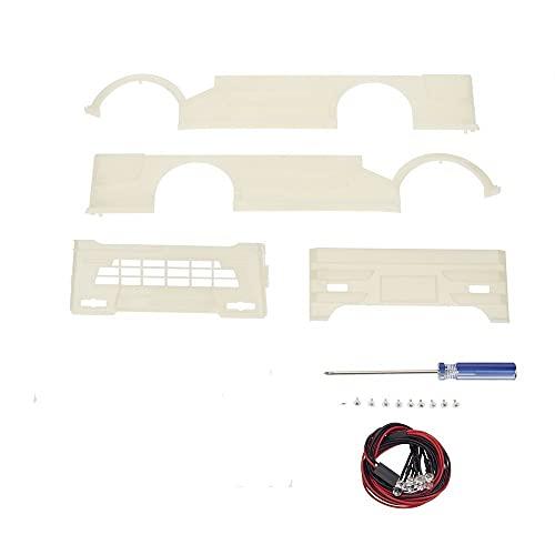 Accesorio de actualización para WPL D12 1:10 Micro Card Drift, mando a distancia de coche, repuesto RC Auto D12 con borde profundo y intermitente de color blanco