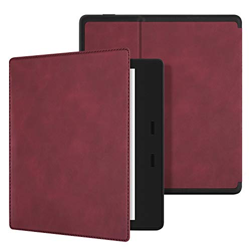 Ayotu Skin Touch Feeling Case for All-New Kindle Oasis(10th Gen, 2019 Release & 9th Gen, 2017 Release),with Auto Wake/Sleep,New Waterproof 7''Kindle Oasis Cover,Soft Shell Series KO The Red Wine