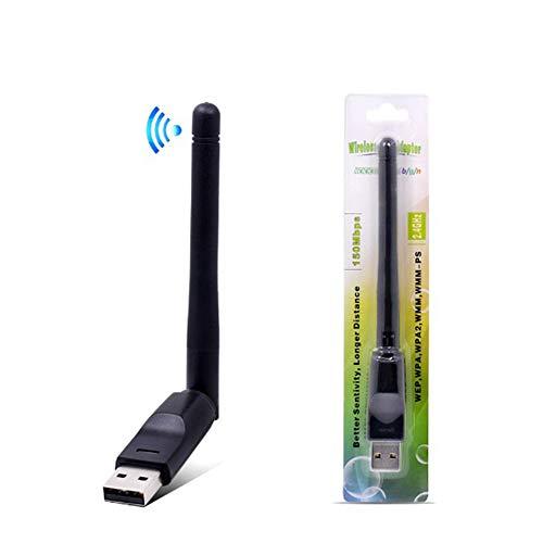 Kisshg Carte réseau sans Fil Mini USB 2.0 Adaptateur WiFi antenne PC LAN WiFi Récepteur