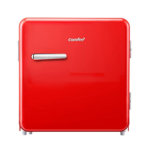Comfee RCD50RE1RT(E) Mini-Kühlschrank/Retro Kühlschrank / 47L Kühlbox / 50 cm Höhe / 100 kWh/Jahr/Rot