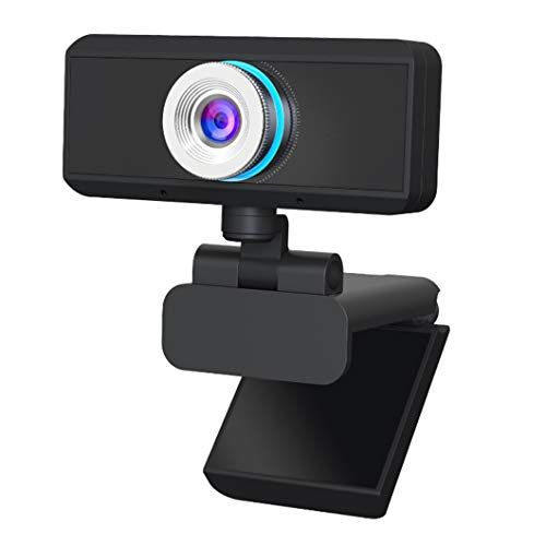 SYTH Cámara Web 1080P, Mini cámara USB para computadora HD Micrófono Incorporado, cámara Web para transmisión en Vivo, videollamadas y grabación, Negro