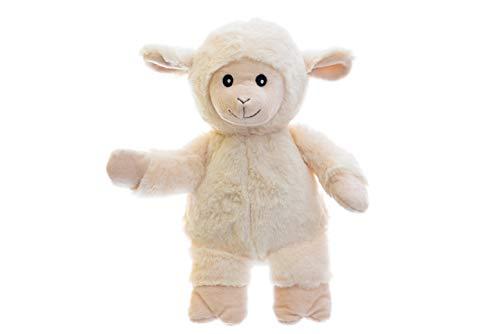 Habibi Plush Premium – 1945 Schaf, mit herausnehmbarem Körnerkissen - Wärmestofftier/Wärmekissen zum Erwärmen in der Mikrowelle/Backofen