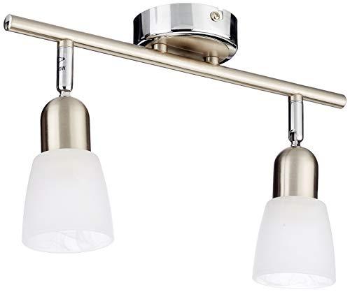 Brilliant Sofia Spotrohr, 2-flammig, 2x E14 max. 40 W, Metall/Glas, eisen/chrom 55313/77