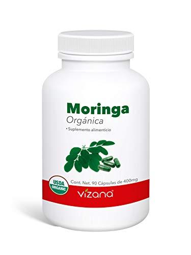 Moringa Orgánica Certificada USDA en Cápsulas Veganas 90 Caps-400mg Vizana Nutrition