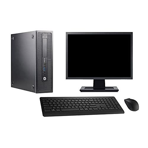 HP - Ordenador de sobremesa (pantalla de 22 pulgadas, Intel Core i3-4130 RAM, 32 GB SSD de 120 GB, Windows 10 Wi-Fi)