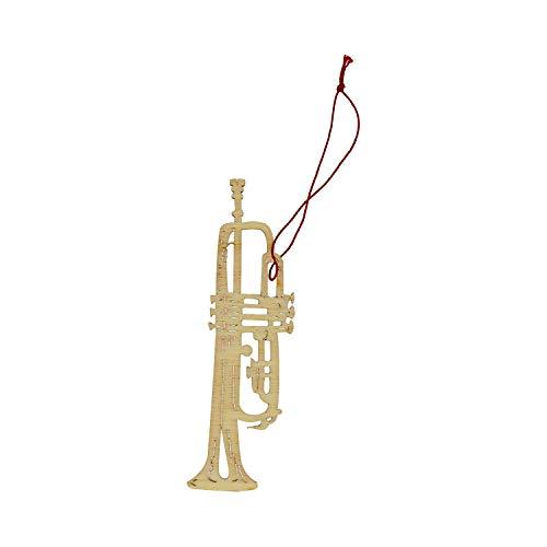 mugesh Anhänger Trompete Pappelholz - Schönes Geschenk für Musiker