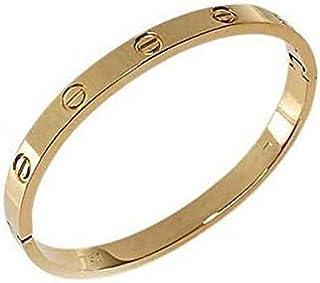 Women's Fashion Jeweled Gold Plated Round Love Bangle Bracelet Biggest Size 6.5cm*5.4cm