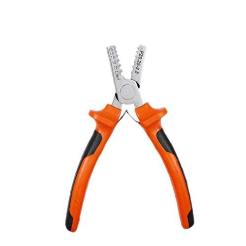 NaiCasy Herramienta Que Prensa Wire Crimper Alicates PZ 0,25-2,5 Pequeño Casquillos para terminales aislados para no Pinza Herramienta de Mano de Orange