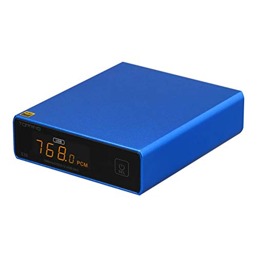 TOPPING E30 DSD512 USB DAC PCM32Bit/768KHz AK4493 Hi-Res Decoder OPT/COAX Control remoto...
