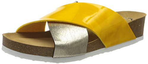 ARA Shoes Women's Sandals, Bobby, Yellow, Platino, 9.5-10US