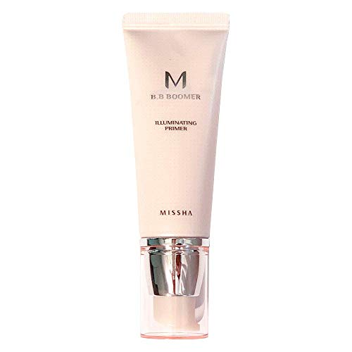 MISSHA M BB Boomer 40ml- Boost the adherence and wear of foundation that brightens skin tone with dewy finish and healthy glow all while providing skincare benefits