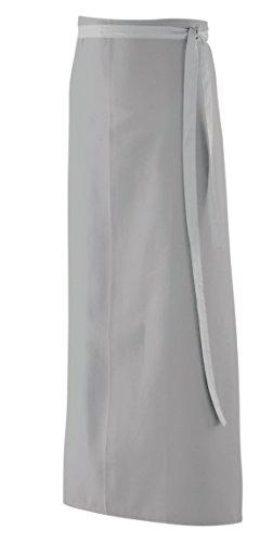 Bistroschürze, Schürze 100x100 cm in silbergrau LxB aus 65% Baumwolle, 35% Polyester