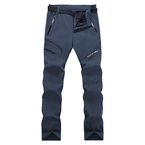 Naudamp Pantalones de Senderismo Forrados con Forro Polar de Invierno Softshell para Mujer Pantalones para Caminar Ligeros de Secado rápido al Aire Libre