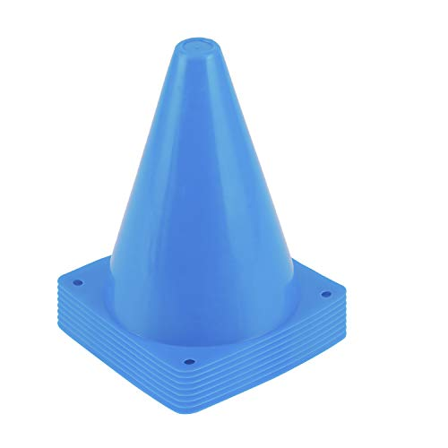 Lanboon Sports Training Cones, Plastic Traffic Cones Field Marker Cones for Skate, Soccer, Football, Outdoor Games, Physical Education and Festive Events, 8 Pack 7 Inches