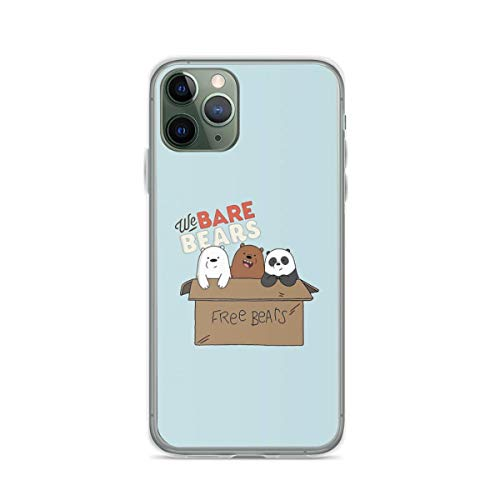 Phone Case We Bare Bears Cartoon - Baby Bear Cubs Box - Grizz Panda Ice B Compatible with iPhone 6 6s 7 8 X XS XR 11 Pro Max SE 2020 Samsung Galaxy Tested Absorption Waterproof