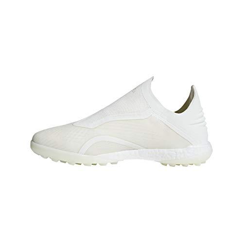 Adidas Performance - Scarpe da calcio da uomo, con erba sintetica, campi duri e ceneri Y Tango 18+, (Owhite Cblack Owhite), 6.5
