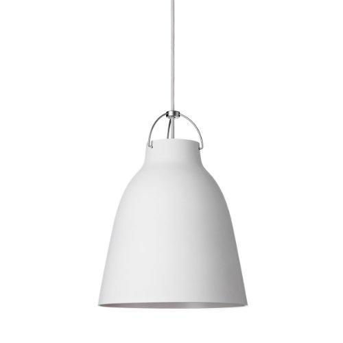 Lightyears Shapes - Pendelleuchte - Caravaggio P1, matt weiß mit weißem Kabel Ø165mm - E27