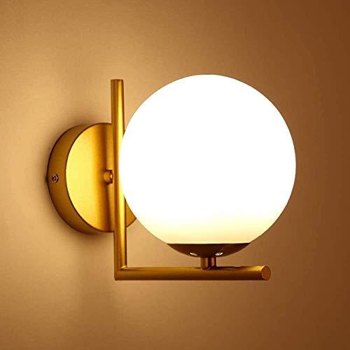 N / A Sphärische Wandleuchte Moderne Wand Kerzenhalter weiß Globus Glas Vorhang Wandspiegel Badezimmer Badezimmer Schlafzimmer Korridor Wandleuchte