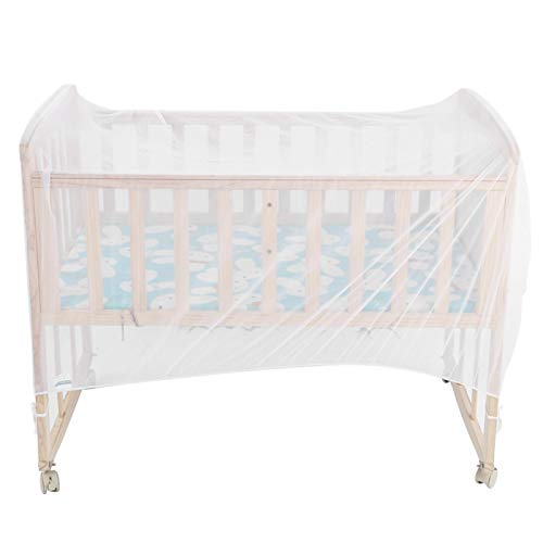 Cot Bed Insect Net, Prevent Wind Crib Net Crib Anti‑Mosquito Cover Crib Mosquito Net Gauze Durable for Protect Your Little Child(136CM*68CM*68CM)