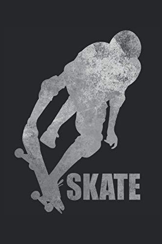 Skate - Skateboard Skater Trick Skating Geschenk Notizbuch (Taschenbuch DIN A 5 Format Liniert): Cooles Skateboarder Geschenkidee Notizbuch, ... und Hobbyskater. Tolles Skater Sprung Motiv.
