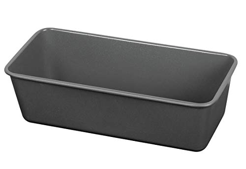 Kaiser La Forme Plus Backform Kastenform 25 x 10 cm, Königskuchenform antihaftbeschichtet, Emailleboden schnittfest, Kastenform Kuchen, Brote