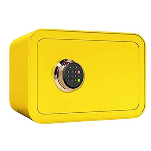 Scatole di sicurezza Casella sicura Cassaforte Anti-Theft Elecqtronic Installazione fissa-Casseforti-Cabinet for documenti ID,documenti A4,computer portatili,gioielli limone giallo-3-3 5x28x25.Cm