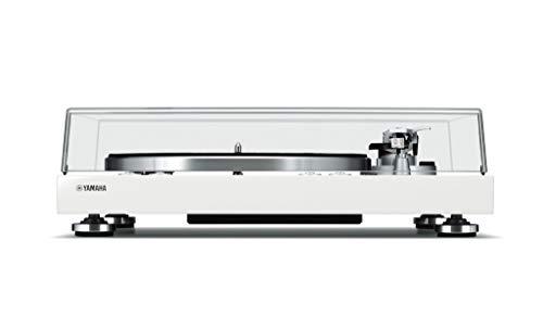 Yamaha MusicCast Vinyl 500 - Tocadiscos (Tocadiscos de tracción por Correa, Blanco, Aluminio, 33 1/3,45 RPM, DC Motor, Digital)