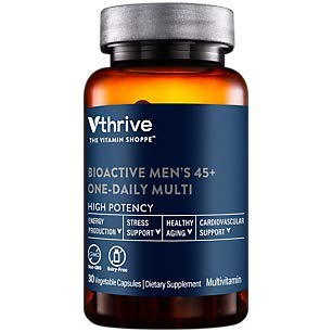 Bioactive Multivitamin for Men 45+ Once Daily Supports Stress, Healthy Aging (30 Vegetarian Capsules)