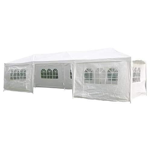 Partyzelt / Festzelt weiß 3x9m mit 8 Seitenteilen Stahl
