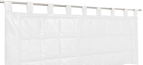 Linder Weston 0523/10/807/160 - Testiera Imbottita, Materiale: Poliestere/Cotone, Colore: Bianco, Dimensioni: 70x160cm