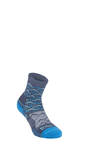 Bridgedale Women's Lightweight Ankle Height - Merino Endurance Socks, Denim/Blue, Small