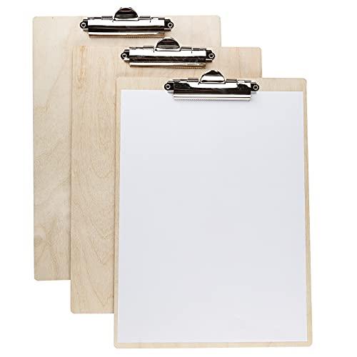 Smart-Planet - Juego de 10 portapapeles de madera, DIN A4, aspecto natural, tabla para presentaciones, estante en la oficina, oficina en casa