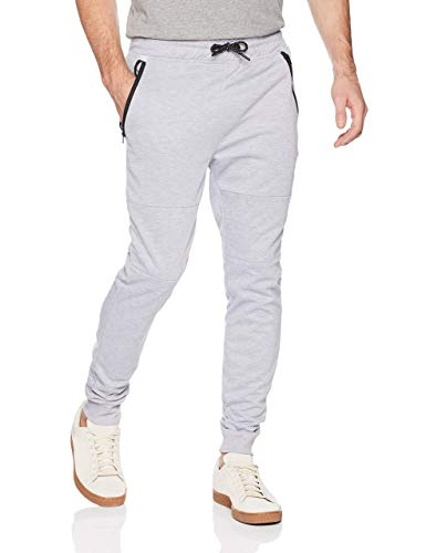 Southpole Men's Tech Fleece Basic Jogger Pants-Reg and Big & Tall Sizes, Heather Grey(fw), Medium