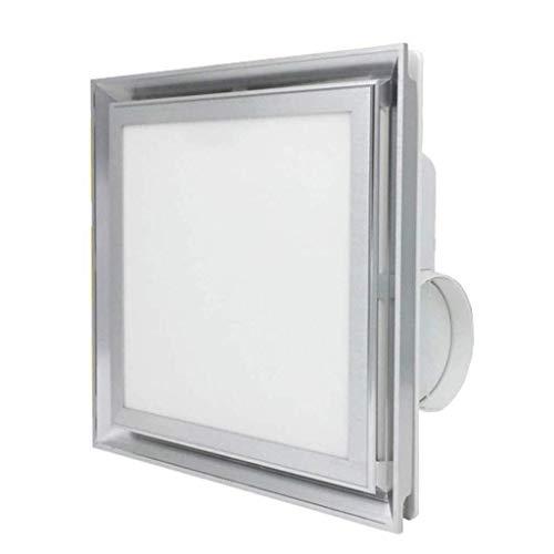 Ventilador extractor de baño, extractor de cocina, ventilador de techo integrado con ventilador de ventilación ultrasilencioso, techo ligero con iluminación