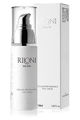 Riloni Milano Siero Viso Ultra Idratante Con Acido Ialuronico. Contiene Collagene Peptidi e Vitamina E. Skincare Antirughe per Uomo e Donna. Made In Italy.