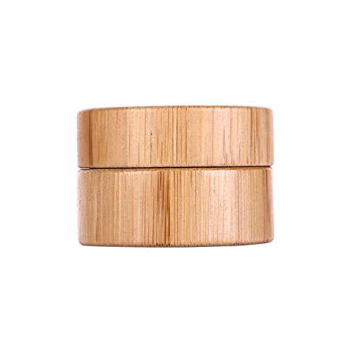 Minkissy Crème cosmétique pots bouteille en bambou rechargeable vide maquillage cas de stockage contenant des échantillons de crèmes liquides 5g