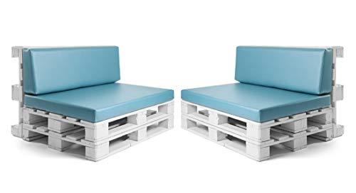 Conjunto colchonetas para sofas de palet y respaldos (2 x Unidades) Cojin relleno con...