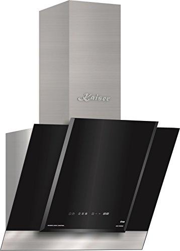 Kaiser AT 6438 ECO Exklusive Dunstabzugshaube 60cm kopffreihaube/ Edelstahl Wandhaube /Schwarzglas / TouchControl/ LED Display/Abzugshaube/ 910m³/h/Timer/Umluftset/Ablufthaube/Umlufthaube/UVP 950 EUR