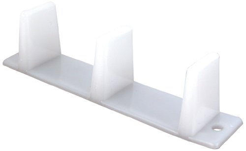 PRIME-LINE Products N 6563 Prime Line Universal Door Guide, 4-3/16 In L X 1 In W, Plastic, 4-3/16', White