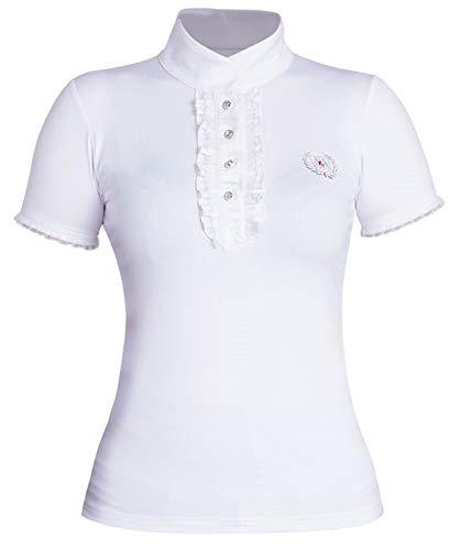 Turnier bluse/Turniershirt Fairplay Charlotte mit Strass weiß Turnier Funktionsshirt, Geschlecht:Damen, Größe:40