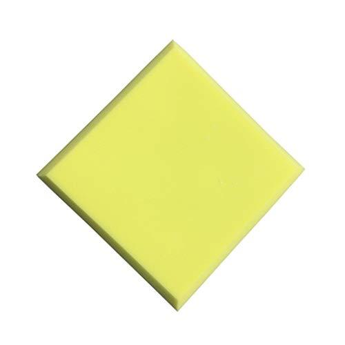 Vierkant akoestische panelen, Home Decoration eenvoudig te installeren Geluidsabsorberende Cotton Bar Indoor Geluidsisolatie Cotton 10st (Color : Yellow)