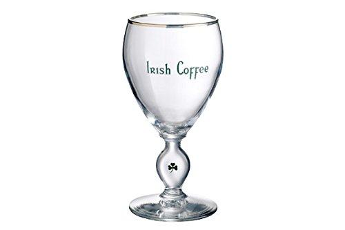 Durobor 955/23 Irish Coffee mit Kleeblattdekor 23cl und Goldrand, 6 Gläser, ohne Füllstrich