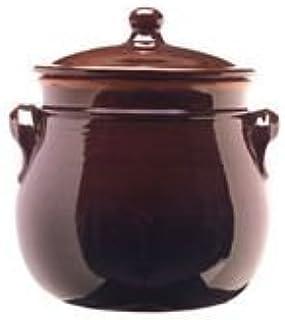 colì maioliche y TERRECOTTE Desde 1650 Brunella Olla abombada con Tapa, Terracota, marrón,