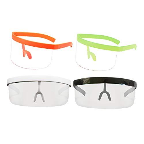 Colcolo 4X Gafas de Sol con Escudo de Moda Gafas Protectoras con Parte Plana Grande