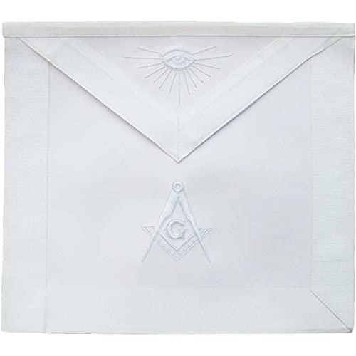 Masonic Master Mason Apron All White