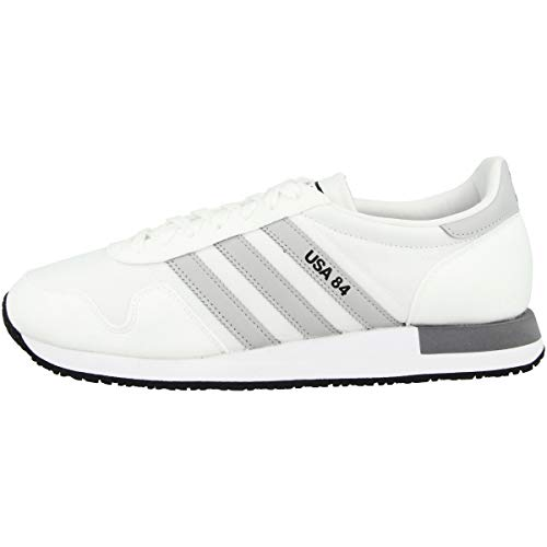 adidas USA 84, Zapatillas de Gimnasio Hombre, Blanco Gris, 41 1/3 EU 🔥