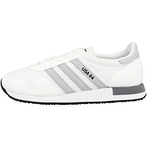adidas USA 84, Zapatillas de Gimnasio Hombre, FTWR White/FTWR White/Grey Three, 41 1/3 EU