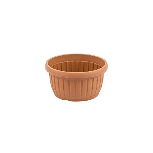 Ciotola fioriera di plastica serie IBERIS ø 180 mm colore: terracotta